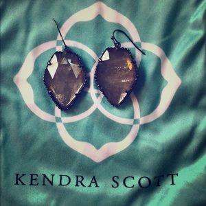 Kendra Scott Corley Gunmetal and Rock Crystal